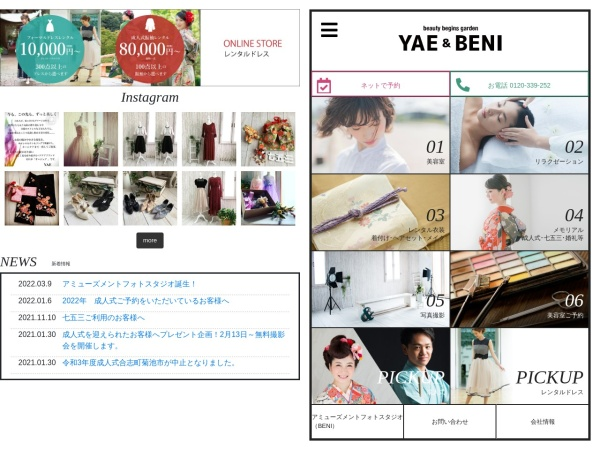 Screenshot of www.yae-japan.co.jp