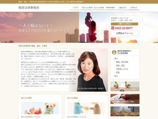 Screenshot of www.yanagihara-law.com