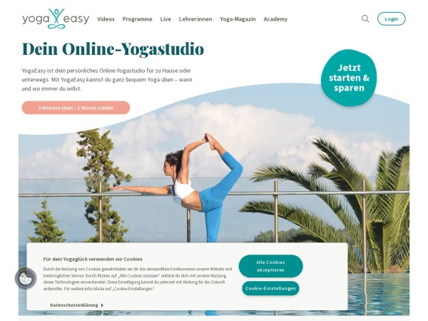 Screenshot von www.yogaeasy.de