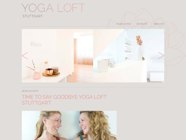 Screenshot of www.yogaloft-stuttgart.de