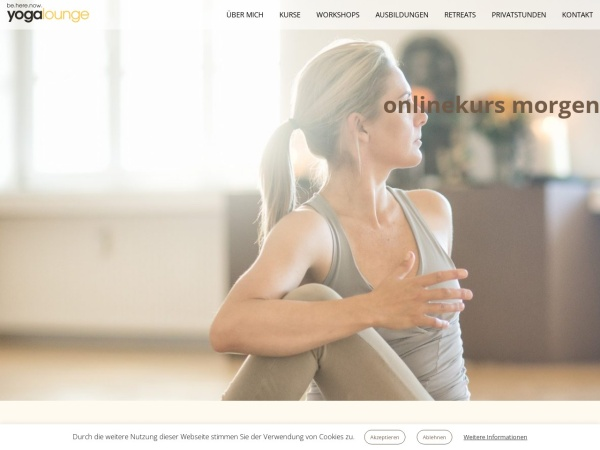 Screenshot of www.yogalounge.de
