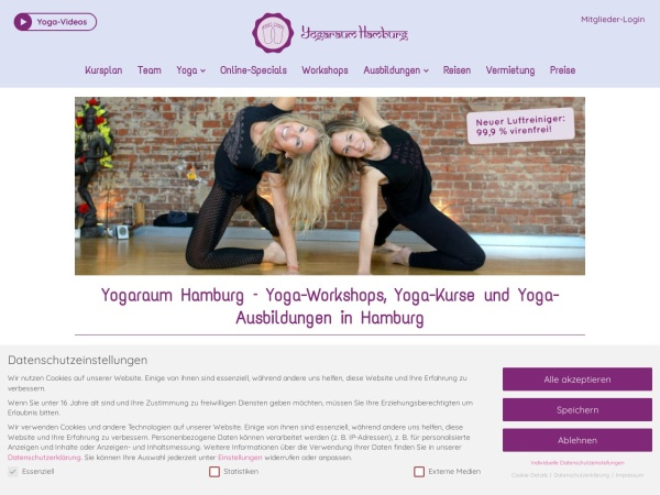 Screenshot of www.yogaraum-hamburg.de