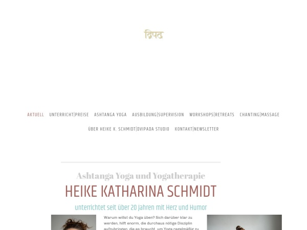 Screenshot of www.yogastudioehrenfeld.de
