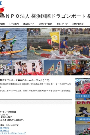 Screenshot of www.yokohama-dragon.com