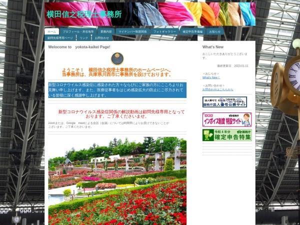Screenshot of www.yokota-kaikei.net