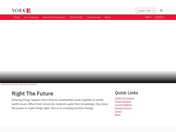 Screenshot of www.yorku.ca