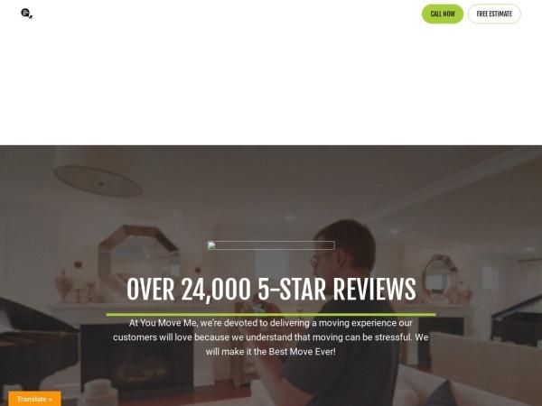Screenshot of www.youmoveme.com