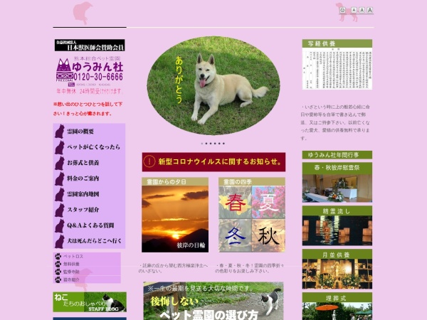 Screenshot of www.yuminsya.com