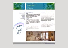 Screenshot of www.zahnarztpraxis-gudrun-hauk.de