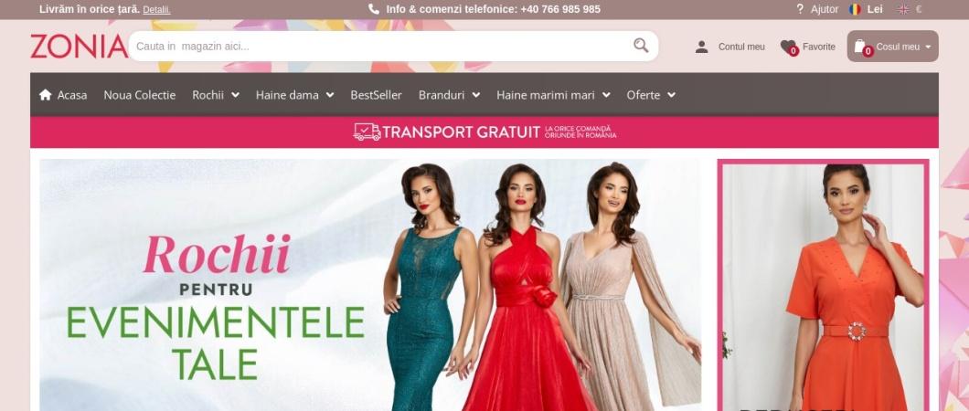 Screenshot of www.zonia.ro