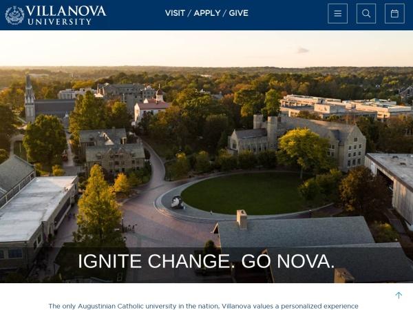 Screenshot of www1.villanova.edu