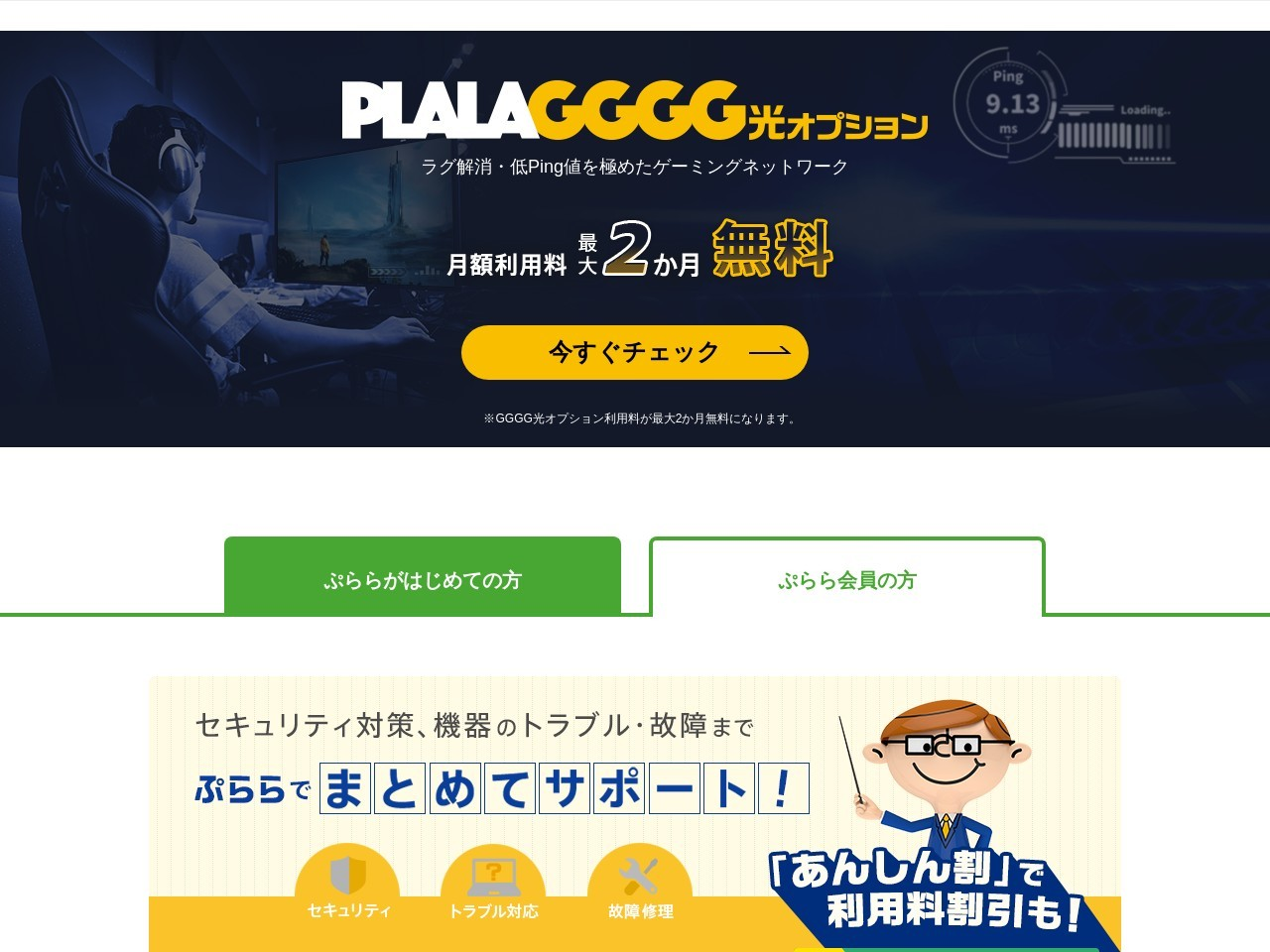 Screenshot of www13.plala.or.jp