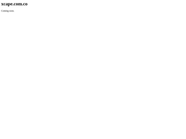 Captura de pantalla de xcape.com.co