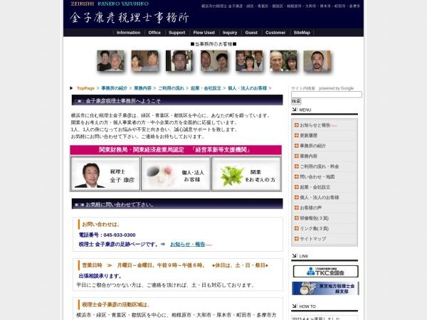 Screenshot of y-kaneko-zeirishi.com