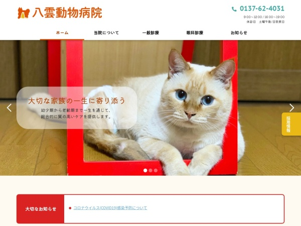 Screenshot of yakumo-ah.com