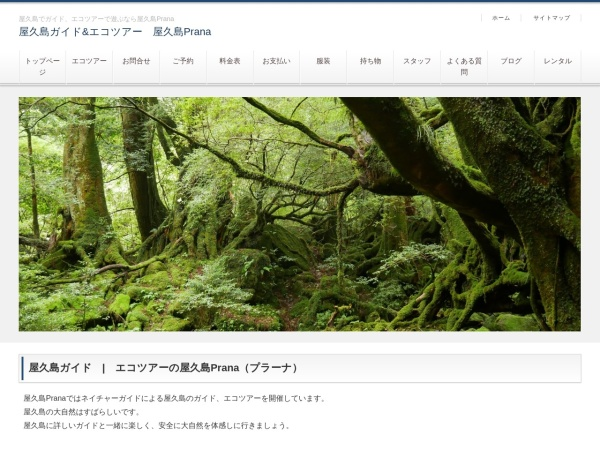 Screenshot of yakushima-prana.com