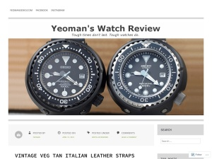 Yeoman's Watch Review using the Zoren WordPress Theme