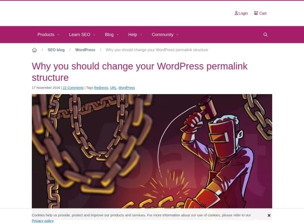 Screenshot of yoast.com