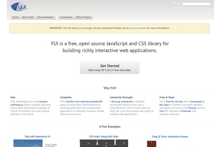 Screenshot of yuilibrary.com