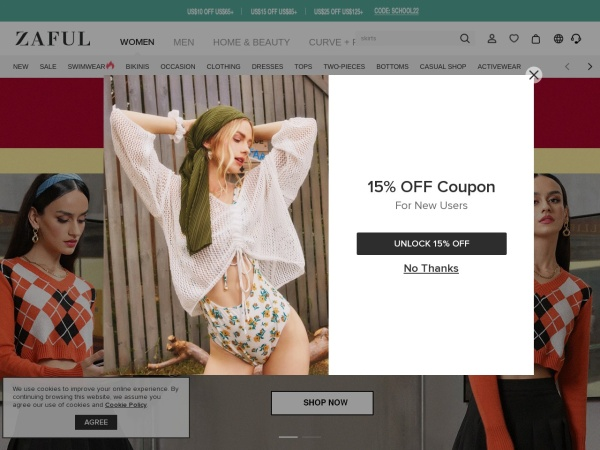 15% OFF FOR all ZAFUL!