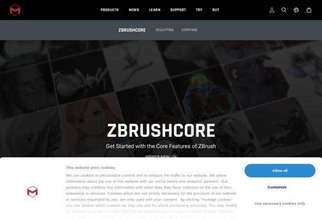 http://zbrushcore.com/