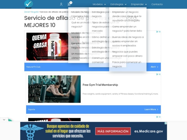 Captura de pantalla de zenat.com.co