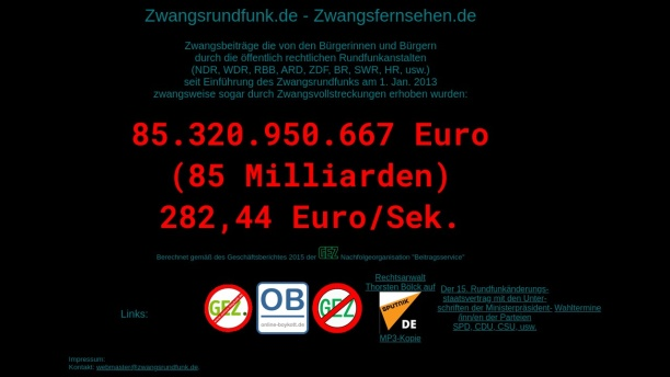 Screenshot of zwangsrundfunk.de