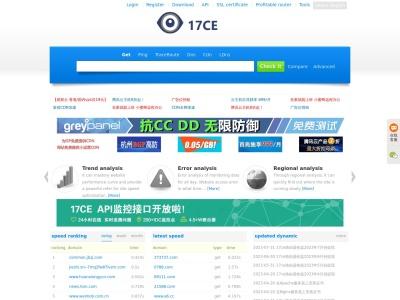 網站實時測速對比工具-17ce.com