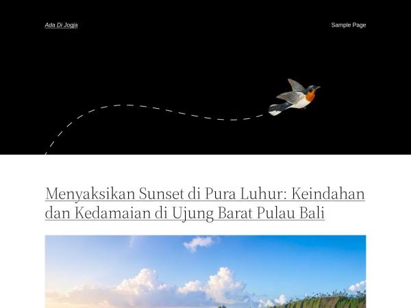 adadijogja.com website Скриншот ada di Jogja | Semua yang ada di Jogja