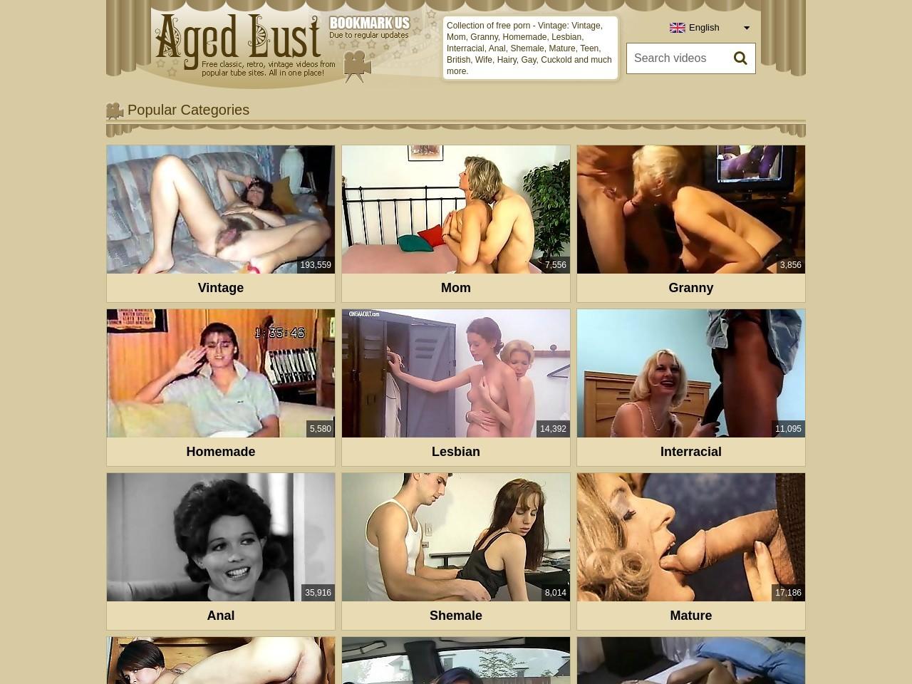 Aged Lust. Retro tube porn.