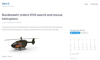 Bundeswehr orders H145 search and rescue helicopters