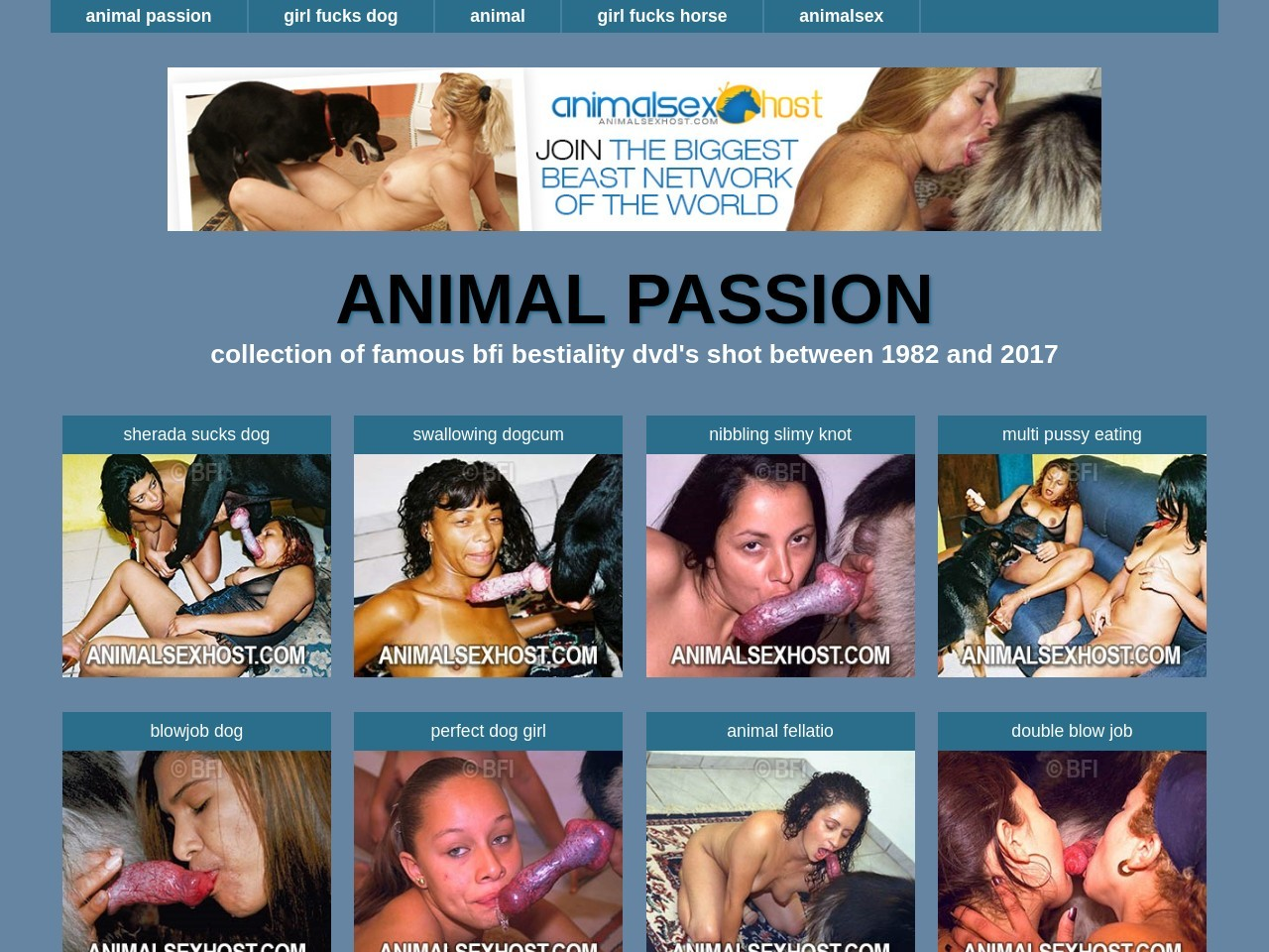 Animal passion - the most famous animalsex website of the world