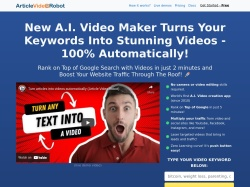 Article Video Robot promo code and other discount voucher