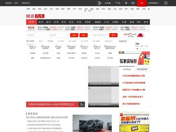 auto.163.com的网站截图