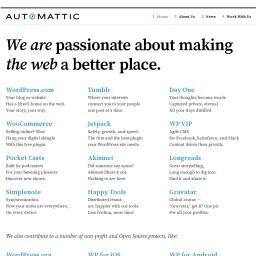Automattic – Making the web a better place