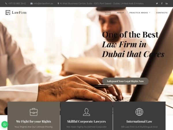 brlawfirm.ae website immagine dello schermo Law Firm & Lawyers in Dubai - UAE | BR Law Firm