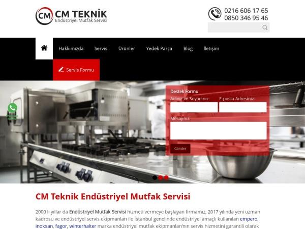 cmteknik.com.tr website capture d`écran CM Teknik Endüstriyel Mutfak Servisi - 0216 606 17 65