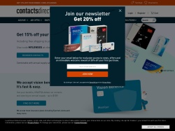 Contacts Direct promo code and other discount voucher