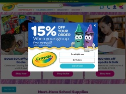Crayola promo code and other discount voucher