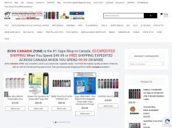 ECIG CANADA ZONE promo code and other discount voucher