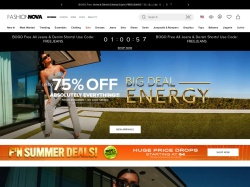 Fashion Nova promo code and other discount voucher