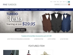 Fine Tuxedos promo code and other discount voucher