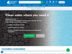Fresh Water Systems promo code and other discount voucher