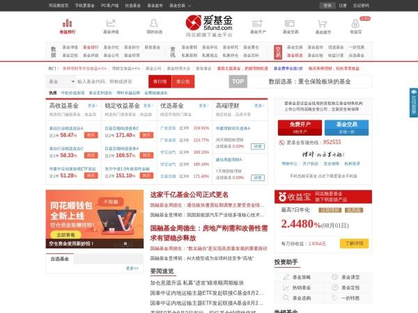 fund.10jqka.com.cn的网站截图