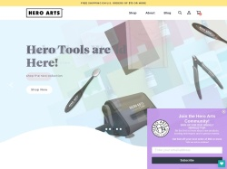 Hero Arts Rubber Stamps promo code and other discount voucher