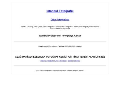 istanbul.freelancefotograf.com Relatório de SEO