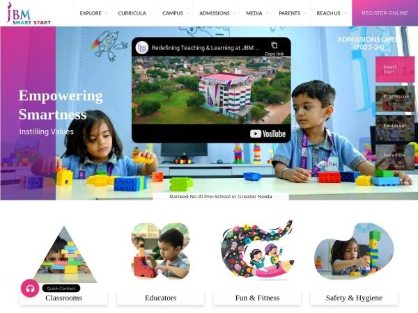 jbmsmartstart.in website screenshot Best Preschools in Greater Noida | Play School | JBM Smart Start