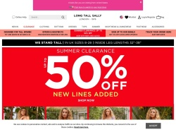 Long Tall Sally promo code and other discount voucher