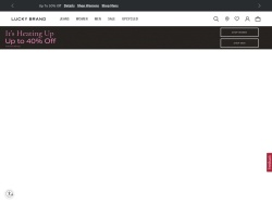 Lucky Brand Jeans promo code and other discount voucher