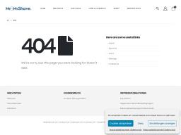 McShave Homepage Screenshot